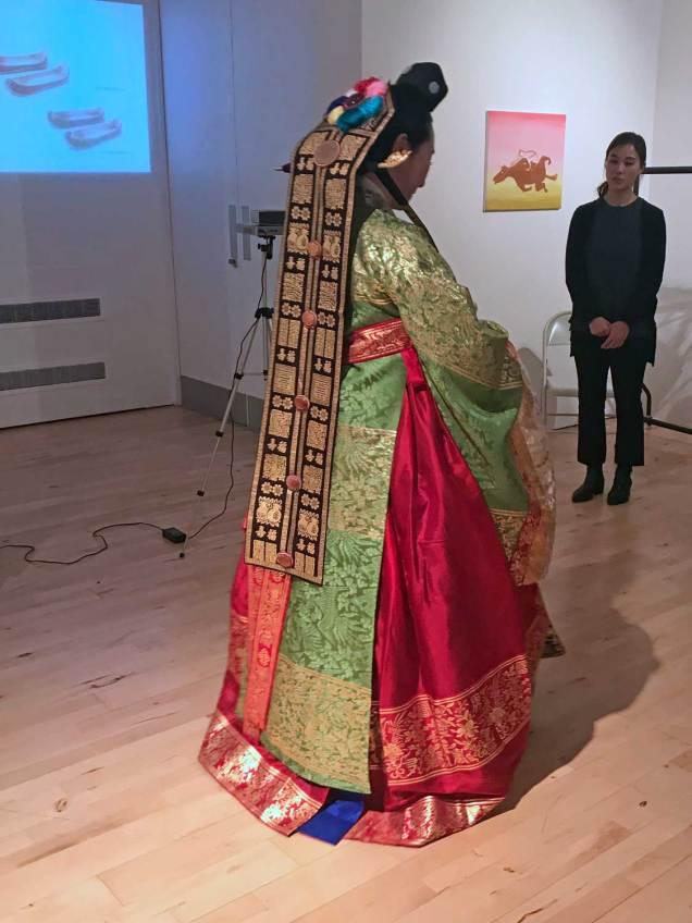 Hanbok dressing ceremony - the bride