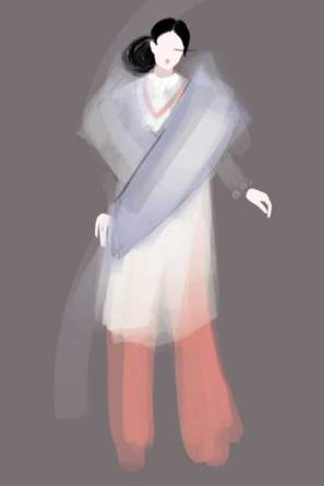 Hanbok design by Carolin Dieler, Kiara Julien & Jonah Solomon. Illustration by Nataliya Grimberg