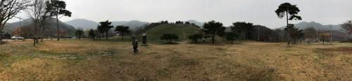 A panorama shot of the site of Gayasa