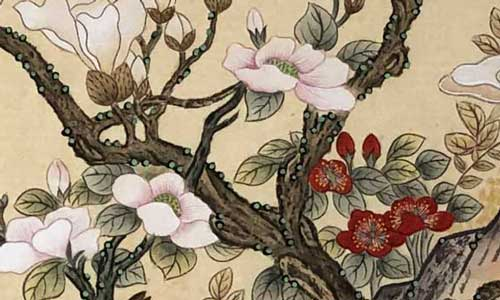 Minhwa blossoms and flowers by Jang Jonghee