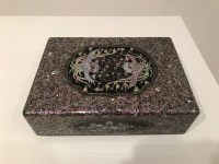 Kim Yong-do: Bangham box with Mugunghwa and Goryeo floral scroll patterns