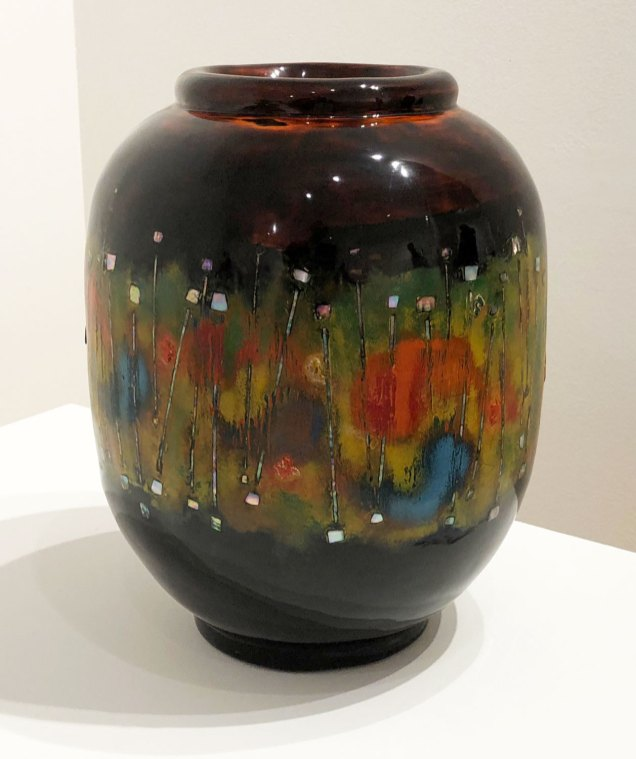 Lee Ha-young: coloured dry-lacquer flower vase
