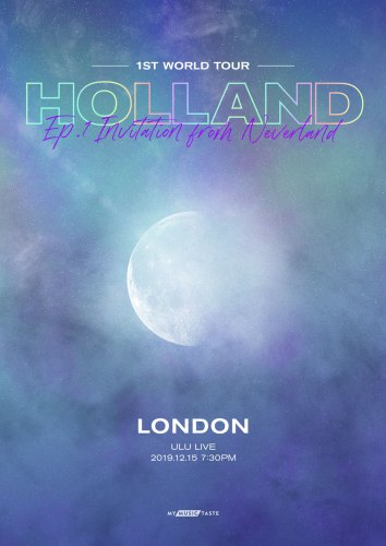 Holland Invitation from Neverland tour poster