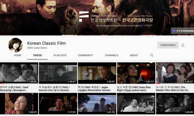 Korean Film Archive YouTube Channel