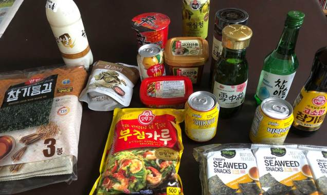 The H Mart groceries