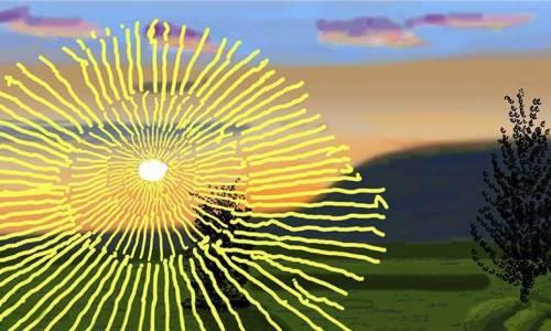 Hockney sunrise