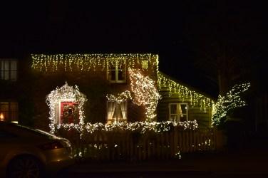 a proper Christmas house