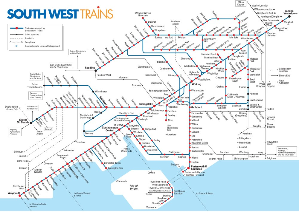 medium resolution of map of london south west trains rail network