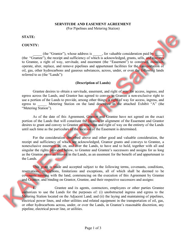 Easement Agreement Template Free Printable Documents