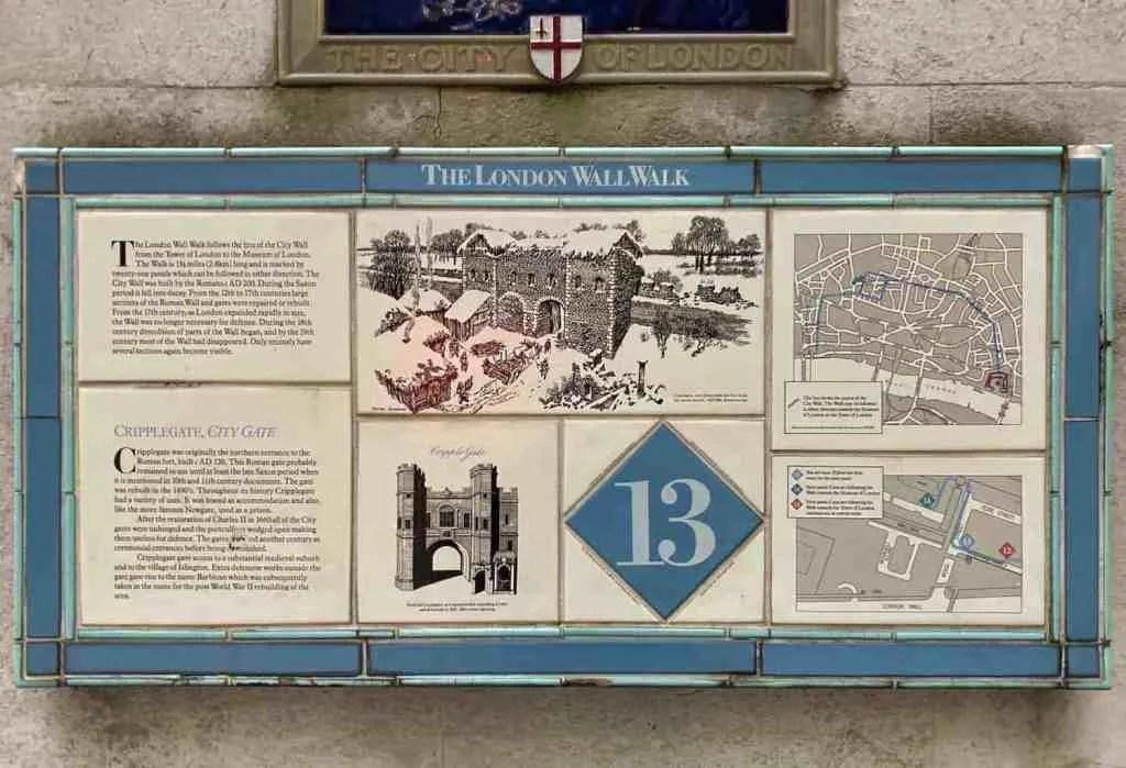 London Wall Walk - Plaque 13