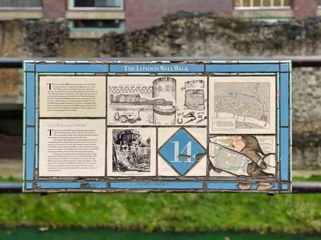 London Wall Walk - Plaque 14