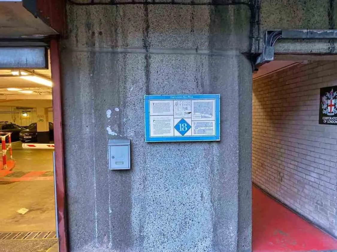 London Wall Walk - Plaque 18