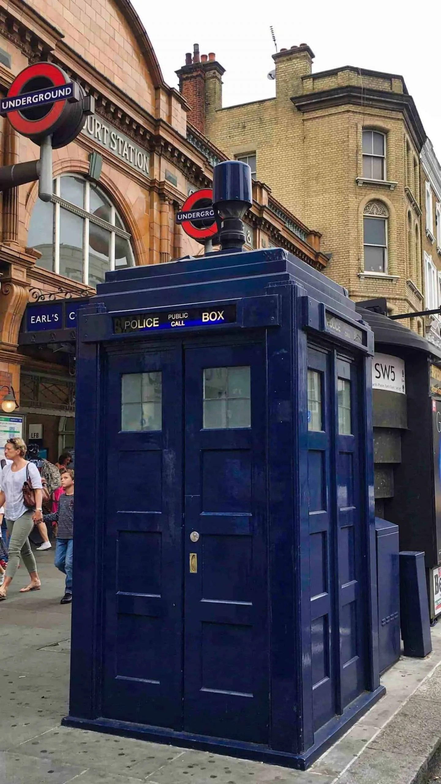 Tardis at Earl's Court Station