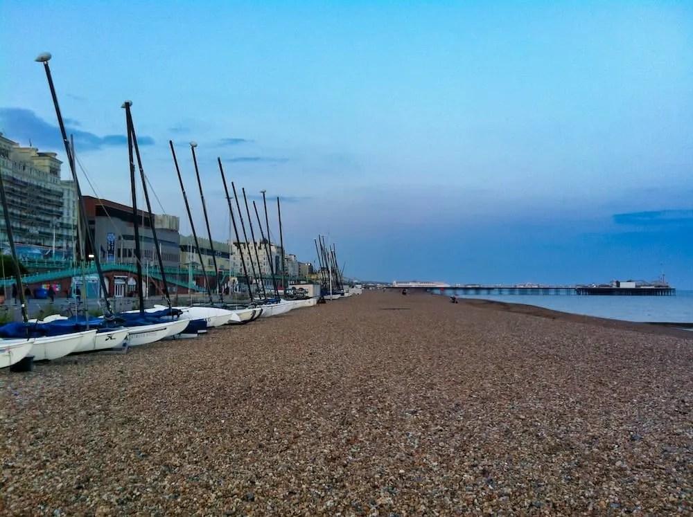 Brighton Day Trip – Looking Down Brighton Beach