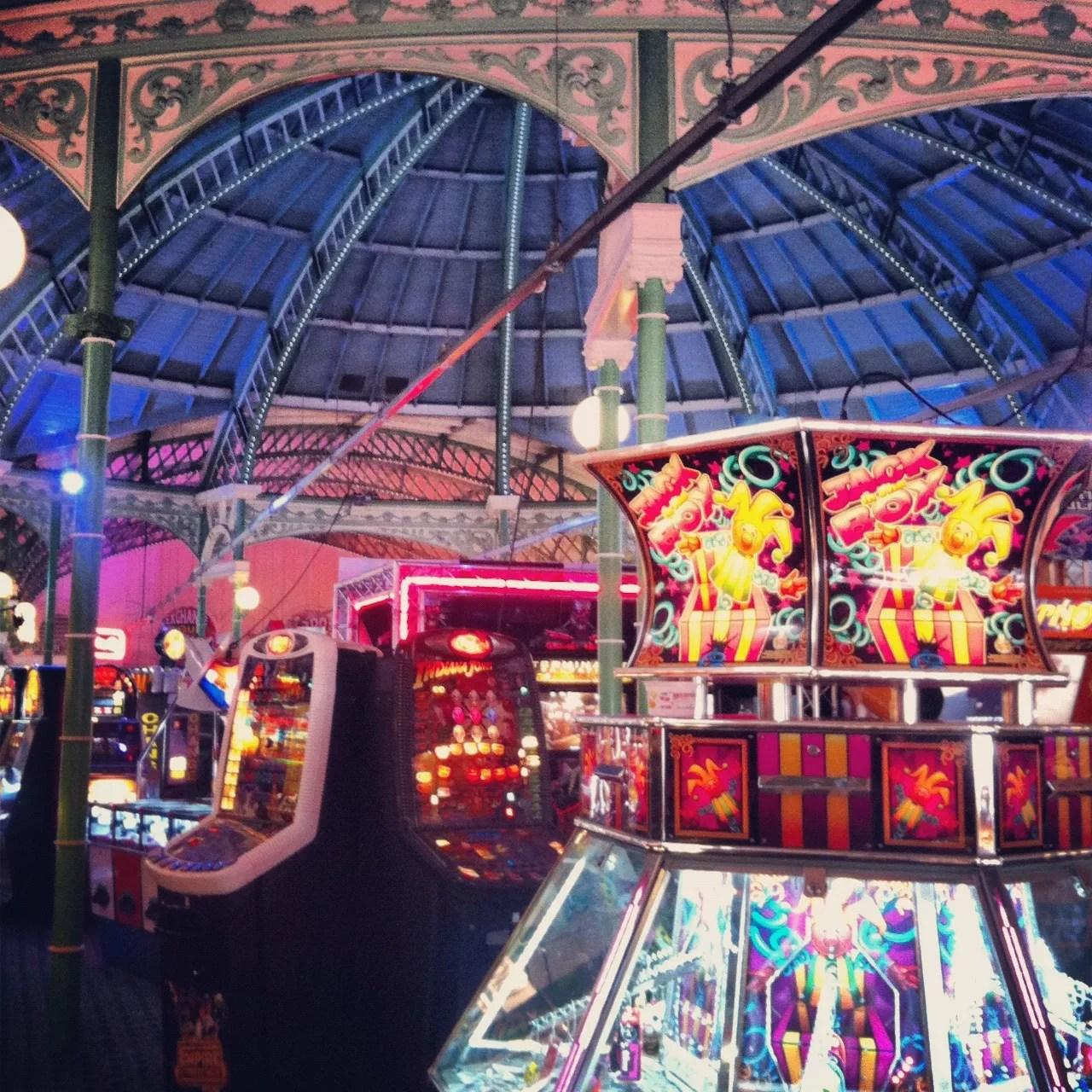 Inside Brighton Pier