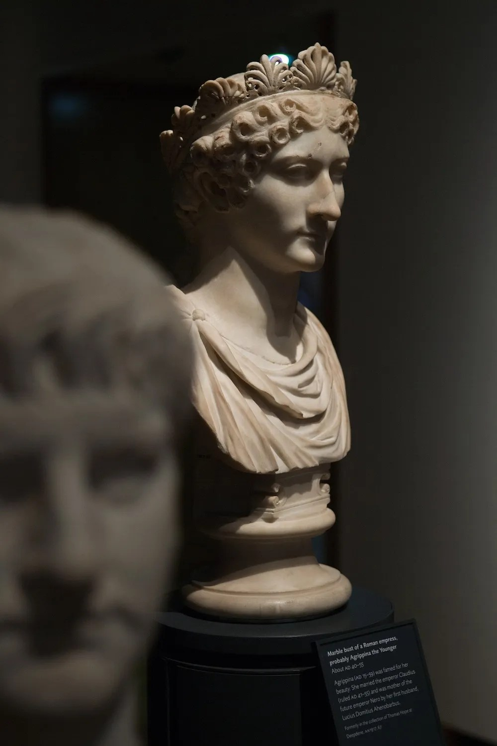 Bust at the Ashmolean in Oxford