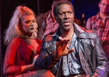 L-R Charlotte Reavey (April) & Cornell S John (Memphis) - The Life at Southwark Playhouse - (c) Conrad Blakemore-0853