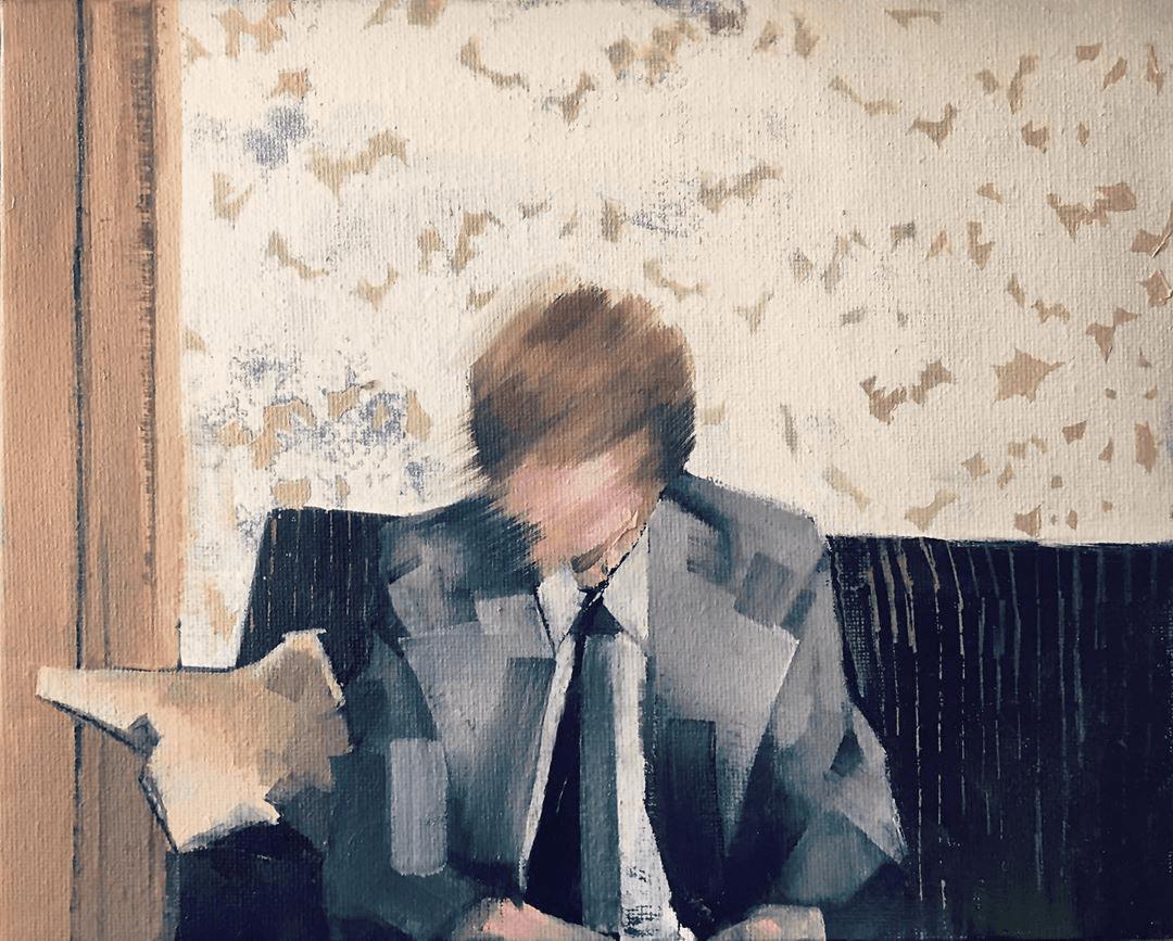 Sian Wroe Jones, Belfast 1970s, 2020, Oil on canvas board, 20 x 25.4 cm, 8 x 10 in, © The Artist