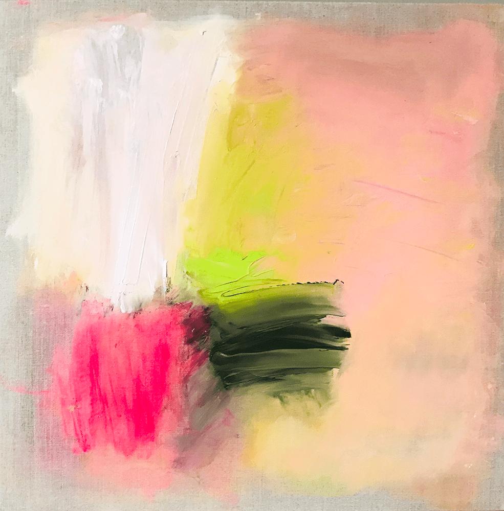 Alison McWhirter On The Echoing Green, 2021 Oil on linen 40 x 40 cm £2,195 © The Artist