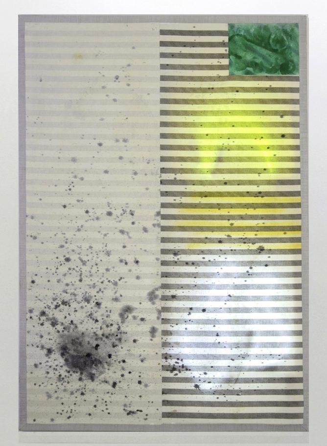 Ignacio Alvaro, Moonwalk, 2021, Mixed media on sewn canvas, neon lights, 141 x 100 cm, Price Available Upon Request, © The Artist