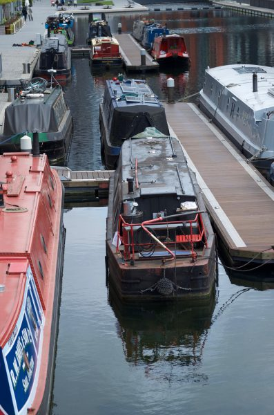 Canal boats, Paddington Basin