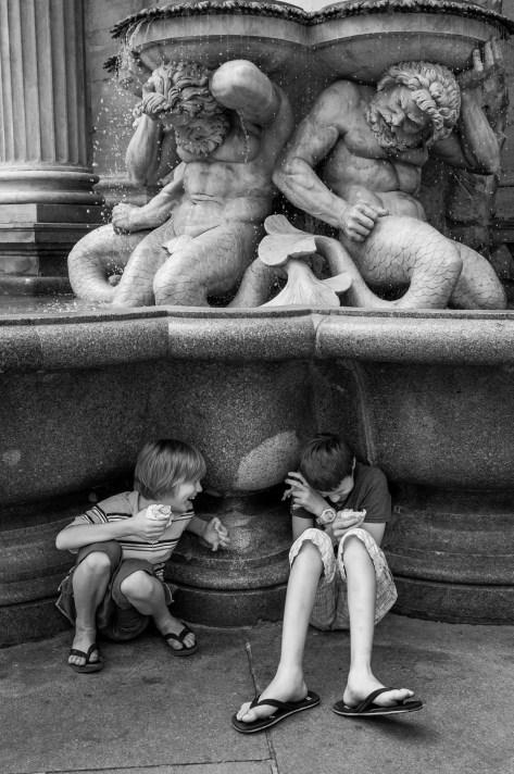 Wien, Albertina, Albrecht fountain, Vienna