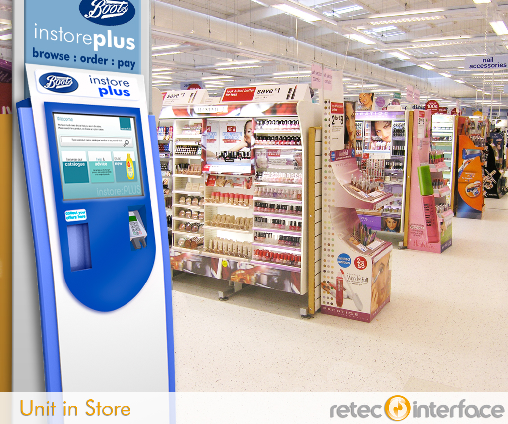 Boots Kiosk Rebranding And Placing