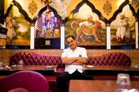 Owner Shapour Nasrollahi relaxes at Persian Palace, the spiciest restaurant in Seoul. Credit: Copyright 2016 Martyn Thompson