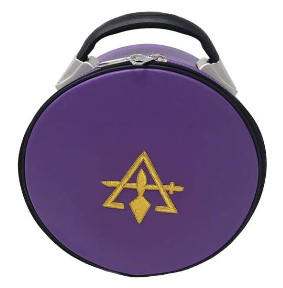 Cryptic Royal & Select Masonic Hat/Cap Case Purple