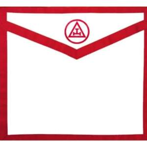 Masonic Apron Royal Arch. Red White Duck Cloth Apron - Triple Tau
