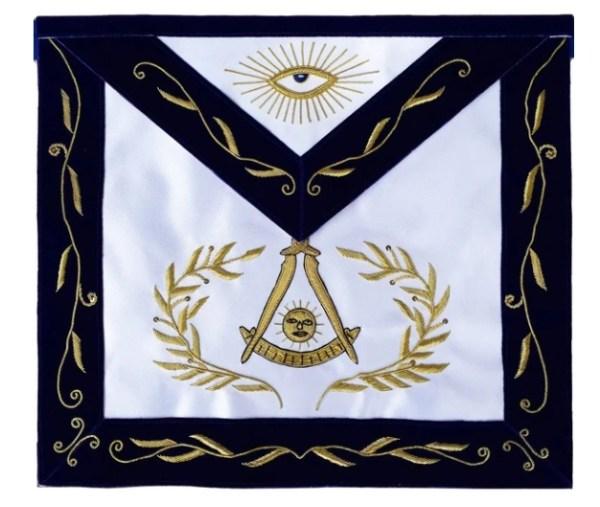 Masonic Blue Lodge Past Master Apron Bullion Hand Embroidered