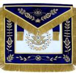 Masonic Grand Lodge Past Master Apron Hand Embroidered Bullion