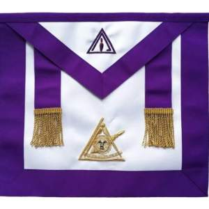 Masonic Past Thrice Illustrious Master PTIM Hand Embroidered Apron