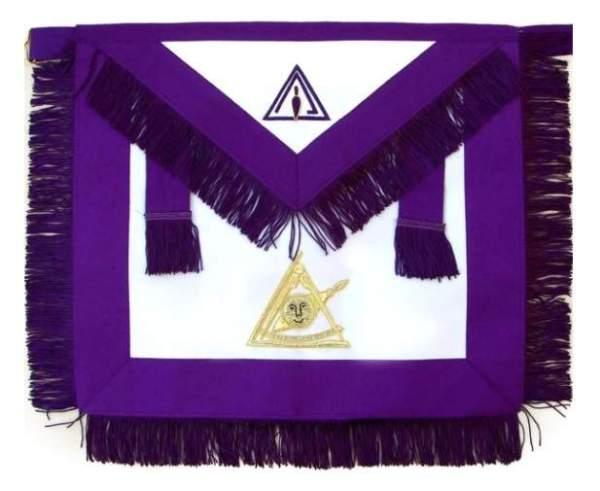 Masonic Past Thrice Illustrious Master PTIM Apron Hand Embroidered