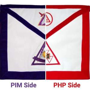 PHP / PIM York Rite Apron Reversible Double-Sided