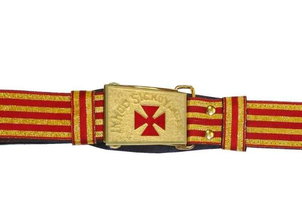 Knight Templar Past Commander Sword Belt Red and Gold
