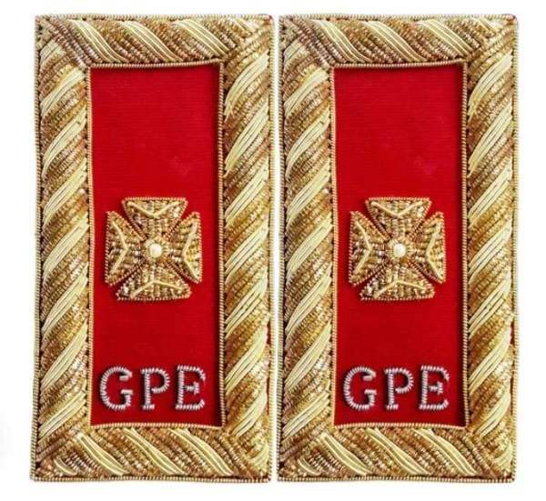 Knights Templar Shoulder Boards - Bullion Embroidered deputy grand commander