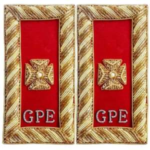 Knights Templar Shoulder Boards - Bullion Embroidered deputy grand commander