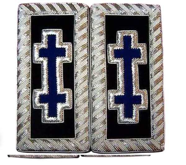 Knights Templar Shoulder Boards - Bullion Embroidered grand encampment blue