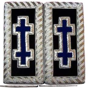 Knights Templar Shoulder Boards - Bullion Embroidered grand encampment blue
