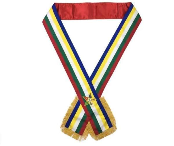 Masonic Order of the Eastern Star OES Sash Five Color sash