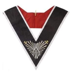 Masonic collar - AASR - 32rd degree - Great glory + glaives flamboyants