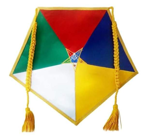 OES Five Color Satin Apron Order of the Eastern Star