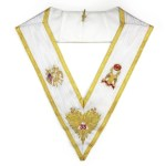Rose Croix 33rd Degree Hand embroidered collar wings down