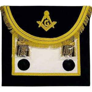Scottish Rite Master Mason Handmade Embroidery Apron - Black Gold