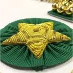 Scottish Rite Master Mason Handmade Embroidery Apron – Green with Vine work star