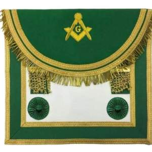 Scottish Rite Master Mason Handmade Embroidery Apron - Green