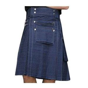 Men Denim kilt