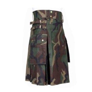 Camouflage Kilt - Men Utility Kilt