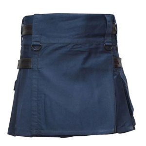 Navy Blue Utility Kilt For Women
